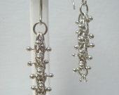 Fine Silver Caterpillar Earrings
