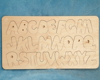 Handcrafted Wooden Alphabet Puzzle