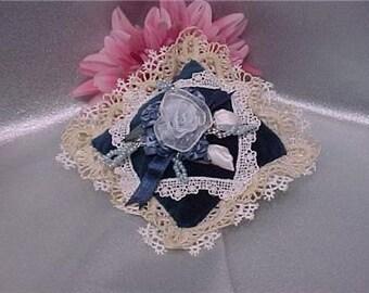 Beaded Velvet Victorian Lavender Sachet