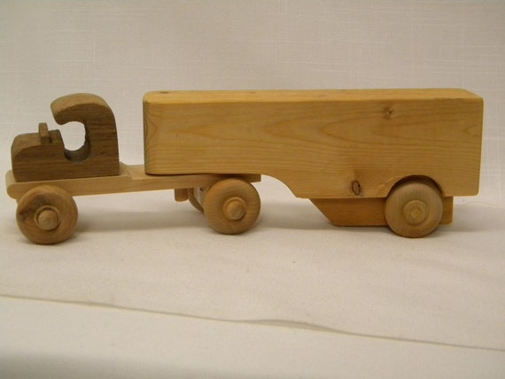 The Little Toy Semi-Truck for the Little Boy Truck Driver