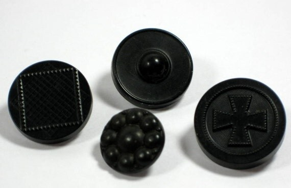 Hard Rubber Buttons N.R. Patent 1851 Goodyear