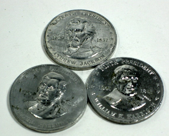 Coins Tokens 1968 Shell Gasoline Promotional Mr President Coins