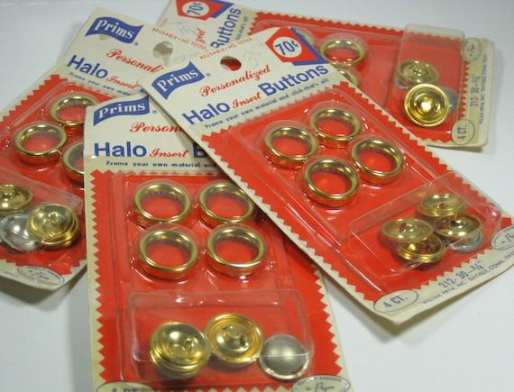 Vintage Prims Halo Insert Buttons Four Packs