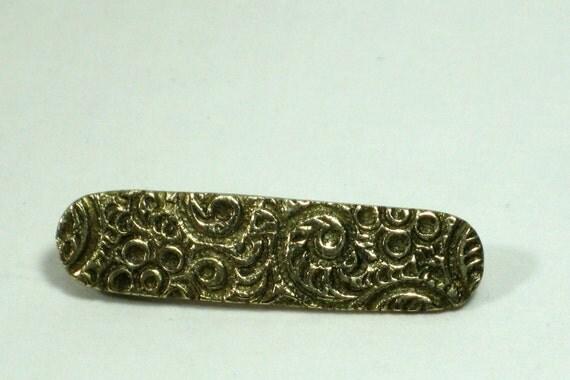 Antique Goldtone Collar Pin Eclectic,Victorian,Art Nouveau