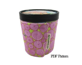 IceCreamSleeve (Digital Download) PDF Pattern- make your sleeve TODAY, aGreenSleeve, ice cream wrap, sleeve, cozy