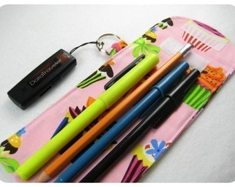 PencilSleeve PDF Pattern- aGreenSleeve, Pencil Pouch, Pencil Case, Pencil Box, Flash Drive, USB Key Ring