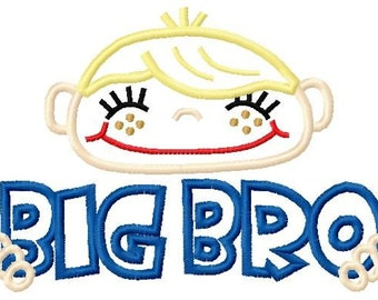 010 Big Bro and Little Bro Applique Designs 5x7 and 6x10 INSTANT DOWNLOAD