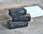 3 Vintage Letterpress Wood Printers Blocks Printer Stamp Second Third Fourth Floor