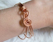 Bangle Bracelet - Lower Armlet or Bangle - Available in Copper - Yellow or Red Bass - German Silver - Metal Bangle - Made to Order