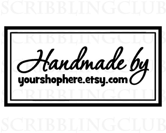 Custom Rubber Stamp for Handmade Products - Featuring Custom Business Name Tag- Stamp 9 Clear Polymer