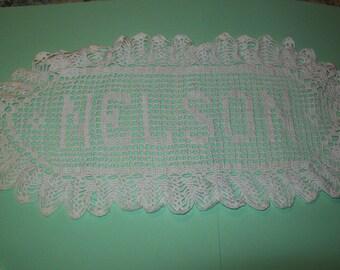 Crocheted name/Nelson