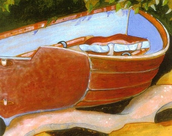 Little Dinghy Greeting Cards - 4 different boat images