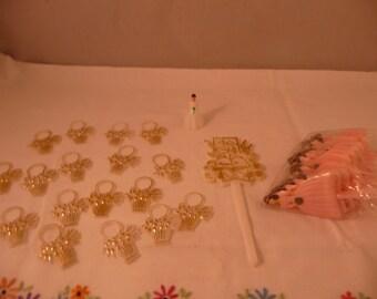 Small Lot of Wedding Bridal Shower Plastic Picks