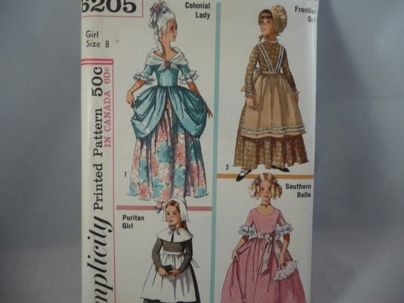 Vintage Girl Size 8 Pattern Marie Antoinette Southern Belle Pilgrim