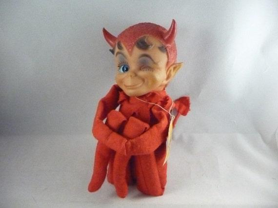 Awesome Vintage Winking Devil Kamar Kneehugger Doll