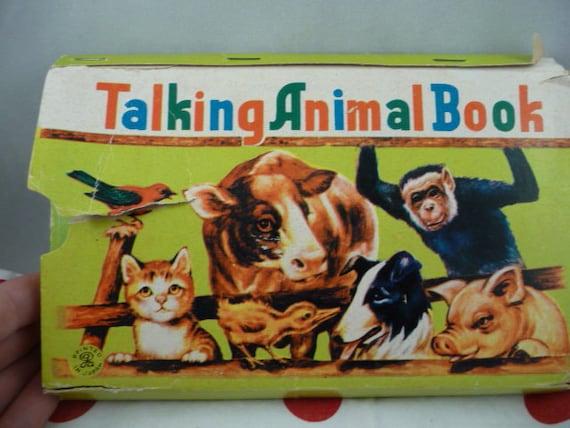 Vintage Childrens Talking Animal Book Squeaker From Japan