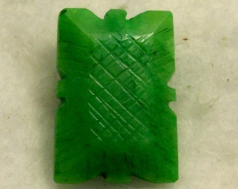 48 carat  ...  carved emerald gemstone ... 28 x 19 x 11 MM