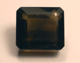 46.5 Carat ...  Faceted Smokey Quartz ... 24 X 16 x 10 MM