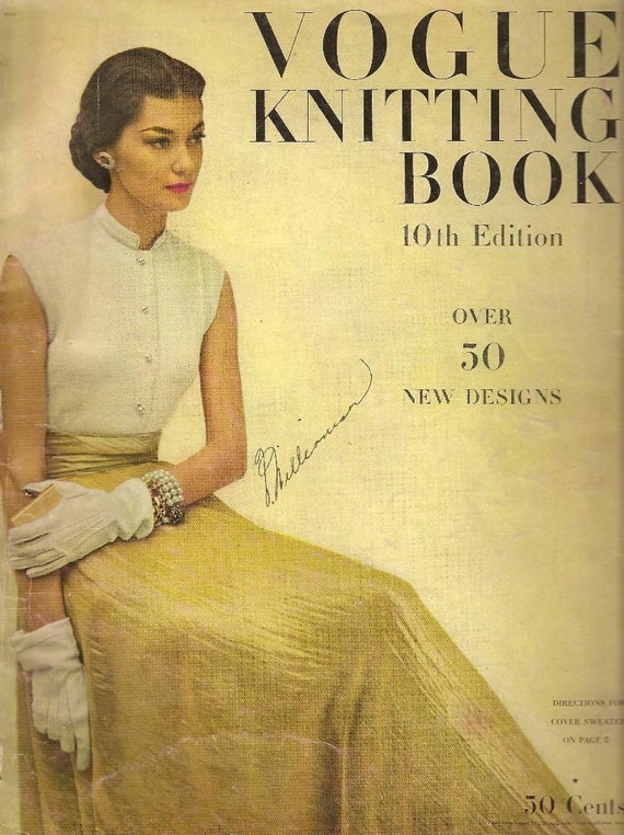 vintage 1948 Vogue Knitting Book 10th edition