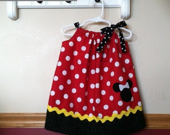 Minnie Mouse Inspired Pillowcase Dress Size 10