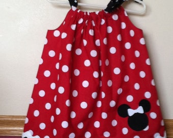 Minnie Mouse Inspired Pillowcase Dress Size 5 to 8