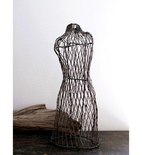 Vintage Mini Wire Dress Form Mannequin
