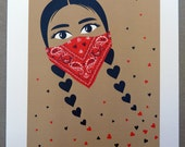 Love and Revolution. Art Print.