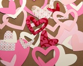 SALE - Handmade Die-Cut Hearts (Embellishment Supplies) by Little b Bunny on etsy