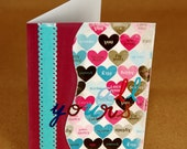SALE - Handmade Valentine's Day Card (All Yours) by Little b Bunny on etsy