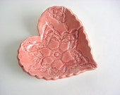Sweet little heart tray, Hand built stoneware pottery T21