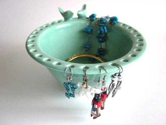 Earring Holder Jewelry bowl, Ceramic bowl, pottery bowl, earring box