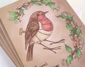 Clockwork Robin - Season's Greetings, Christmas card
