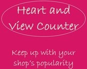 Heart and View Counter - Track your popularity, marketing tool