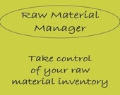 Raw Material Manager - Spreadsheet, material inventory, product pricing