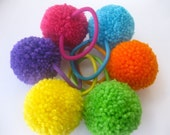 Hairballs - FUN PACK  - 6 BRIGHT COLORS - Purple - Yellow - Orange - Turquoise Blue - Lime Green - Hot Pink