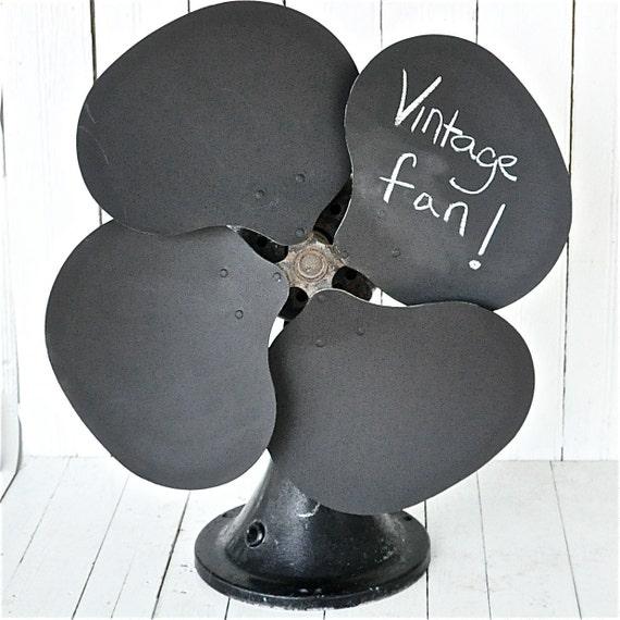 Upcycled Chalkboard Fan
