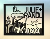 Personalized Papercut Poster - Customizable Paper Anniversary Gift by CookieBits