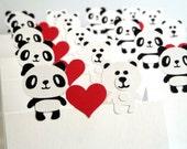 Panda and Polar Bear Name Place Cards