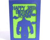 The Incredible Hulk Custom Birthday Card