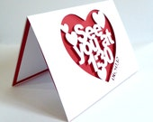 See You at (Time) Wedding Day Papercut and Pop Up Card