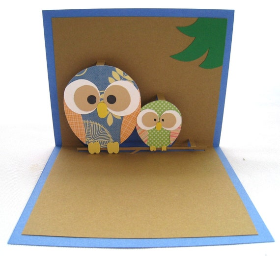 Mommy and Baby Owl Pop Up Card