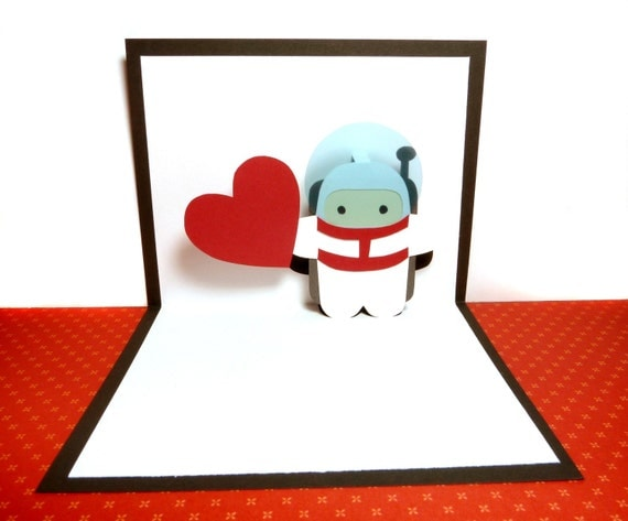 Personalized Astronaut Pop Up Card