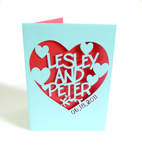 Personalized Paper Anniversary Card