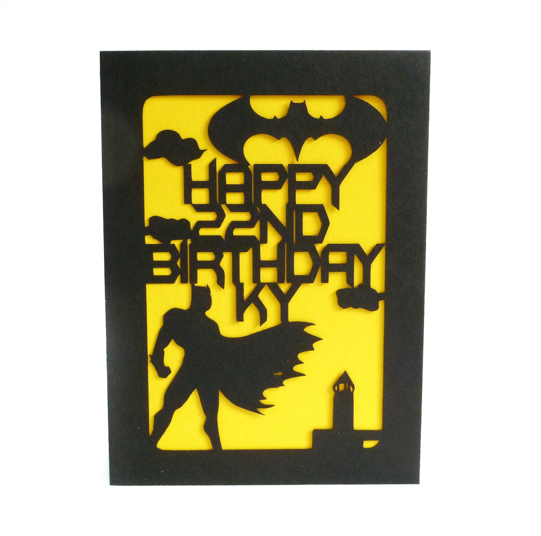 Batman Custom Birthday Card by CookieBits on Etsy
