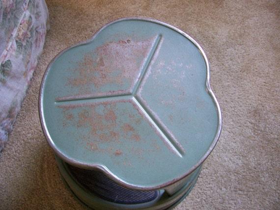 Vintage Green Industrial Chic Kik Step Metal Stool