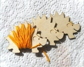 Henry the Hedgehog Embroidery Floss Holder (Set of 3)