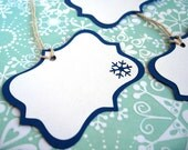 Snowflake Holiday Gift Tags Set of 8