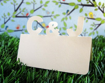 Custom Initials Monogram Place Cards Set of 100 Wedding