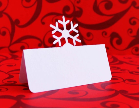 Snowflake Place Cards Set of 100
