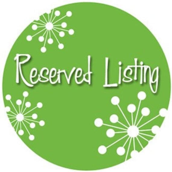 Reserved listing ertreadaway